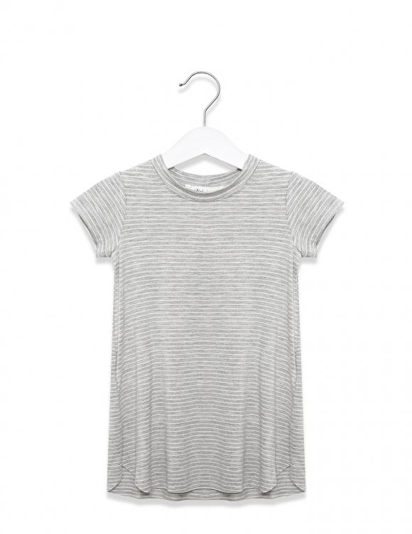 Alef Alef | אלף אלף - בגדי מעצבים | שמלת אנה פסים אפור לבן