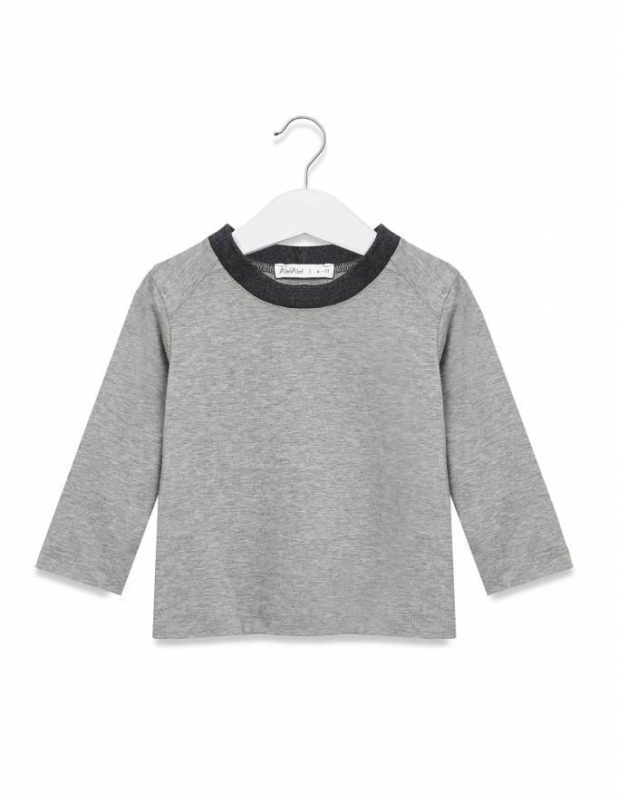 Alef Alef | אלף אלף - בגדי מעצבים | חולצת מעוין אפור