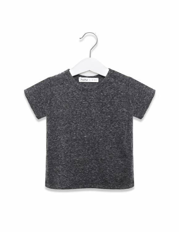 Alef Alef | אלף אלף - בגדי מעצבים | חולצת כוכב אפור מלאנז'