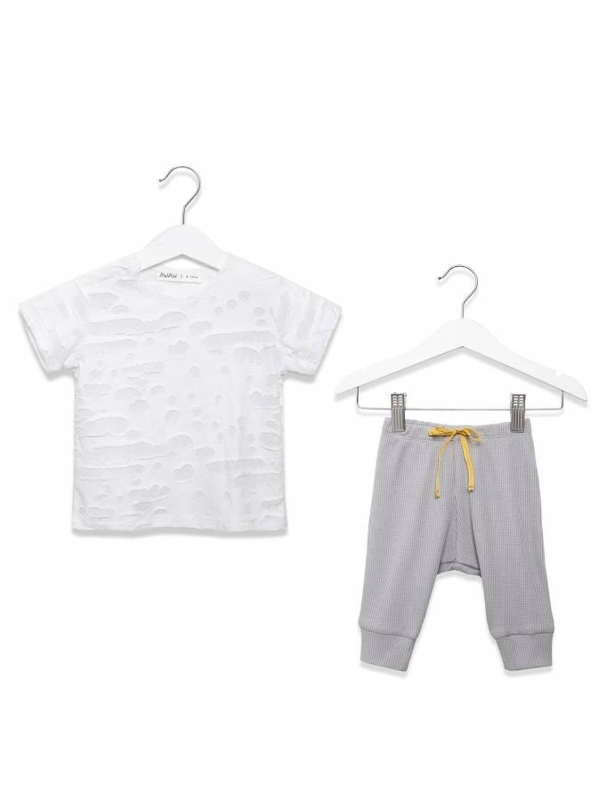 Alef Alef | אלף אלף - בגדי מעצבים | חולצת כוכב לבן מחורר