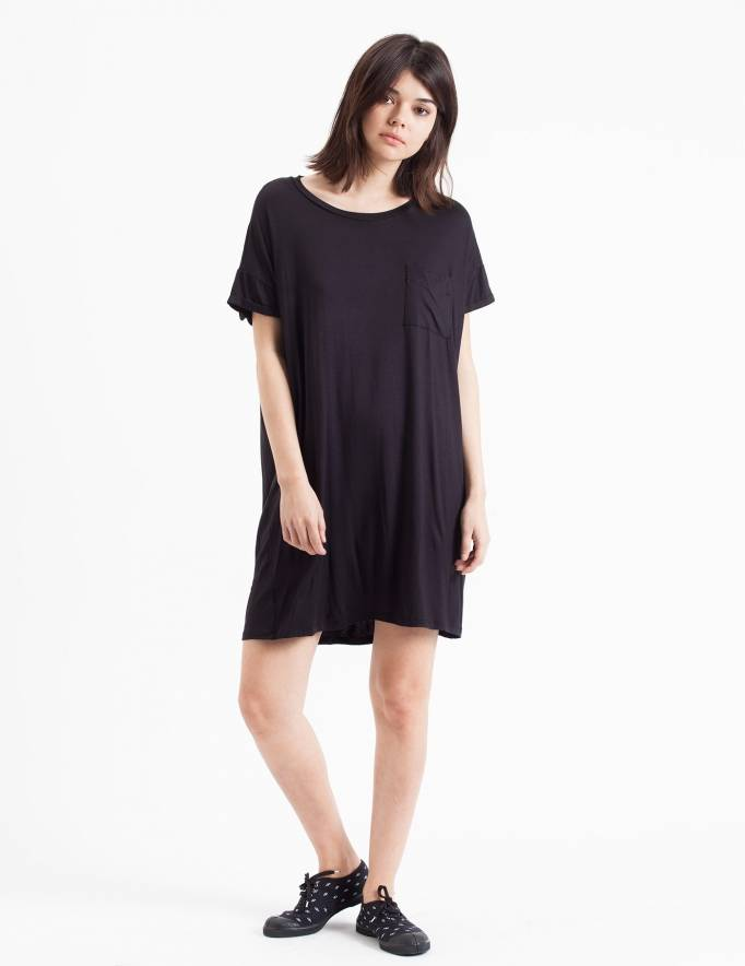 Alef Alef   אלף אלף - בגדי מעצבים   שמלת Doro שחור