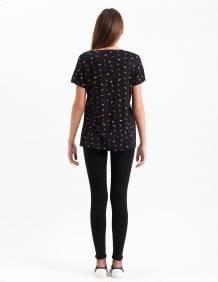 Alef Alef   אלף אלף - בגדי מעצבים   חולצת Regalo שחור משיכות צבע