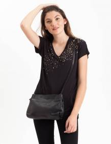 Alef Alef | אלף אלף - בגדי מעצבים | תיק בוני שחור LadyBird