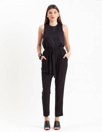 Alef Alef | אלף אלף - בגדי מעצבים | מכנסי Mirandum שחור