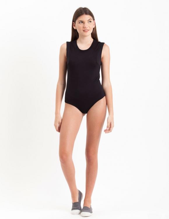 Alef Alef | אלף אלף - בגדי מעצבים | בגד גוף Ten שחור/שחור