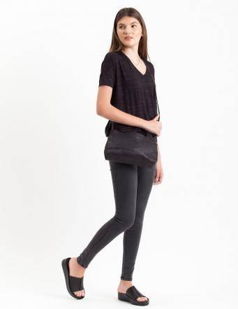 Alef Alef | אלף אלף - בגדי מעצבים | תיק בוני שחור קרוקודיל LadyBird