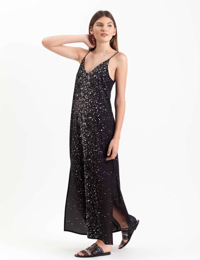 Alef Alef | אלף אלף - בגדי מעצבים | שמלת Volo שחור קונפטי לבן