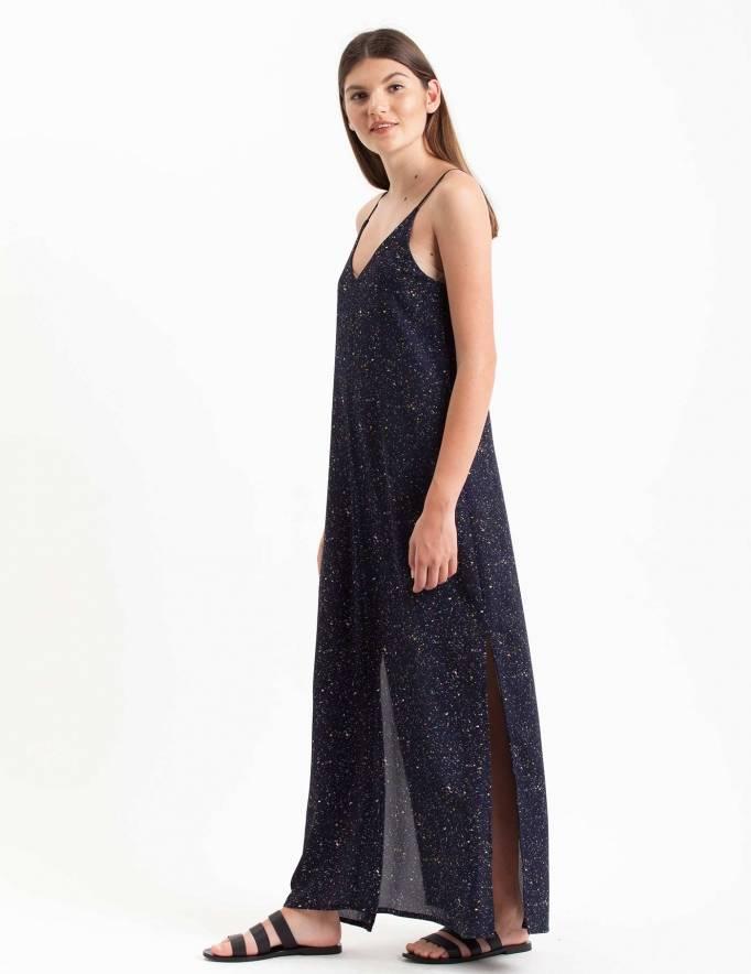 Alef Alef | אלף אלף - בגדי מעצבים | שמלת Volo כחול קונפטי
