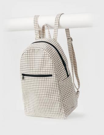 Alef Alef | אלף אלף - בגדי מעצבים | תיק גב ריבועים Zip BAGGU