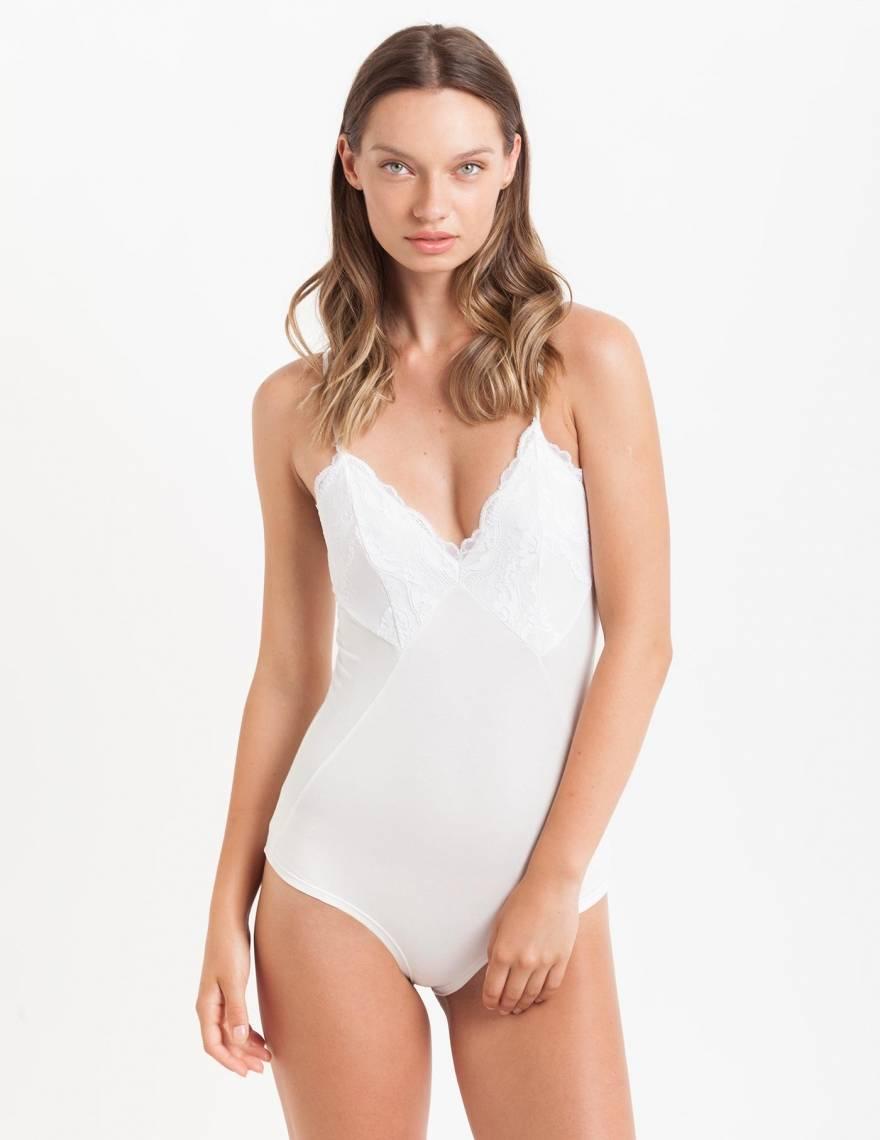 Alef Alef | אלף אלף - בגדי מעצבים | בגד גוף Mai לבן