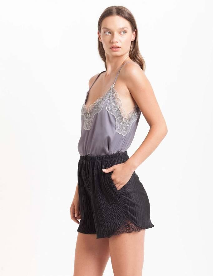 Alef Alef | אלף אלף - בגדי מעצבים | מכנסי Furo שחור פליסה