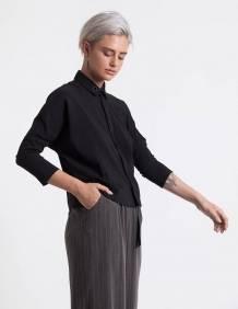 Alef Alef | אלף אלף - בגדי מעצבים | מכנסי Andrew אפור פס דק