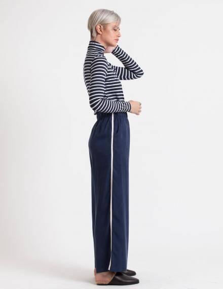 Alef Alef   אלף אלף - בגדי מעצבים   מכנסי Ted כחול