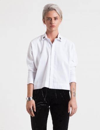 Alef Alef | אלף אלף - בגדי מעצבים | חולצת Alison Nit לבן