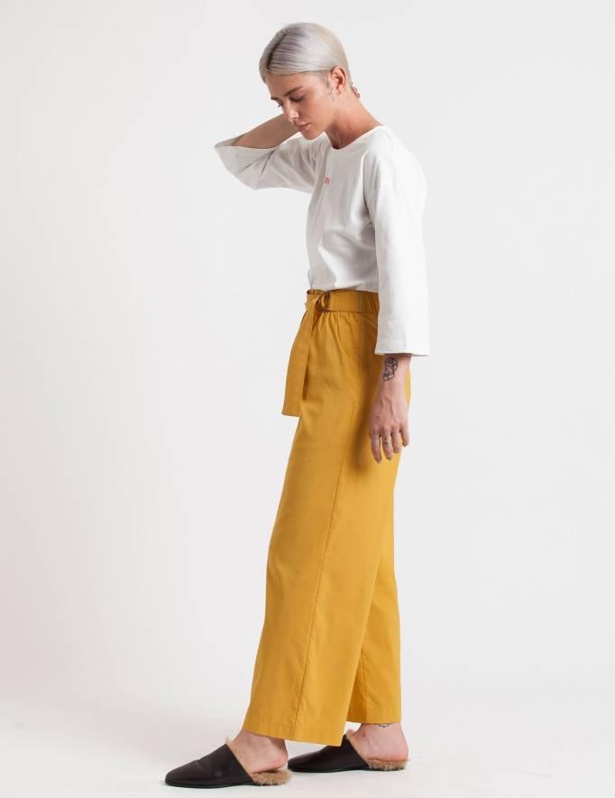Alef Alef | אלף אלף - בגדי מעצבים | מכנסי Andrew חרדל