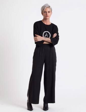 Alef Alef | אלף אלף - בגדי מעצבים | מכנסי Ted שחור