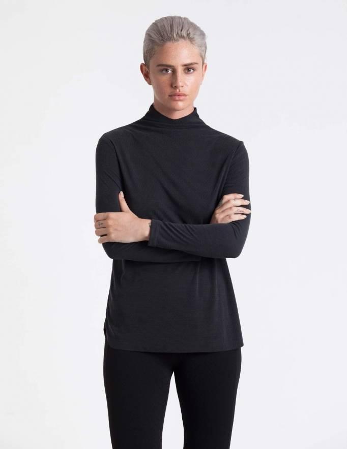 Alef Alef | אלף אלף - בגדי מעצבים | חולצת Fran שחור פחם