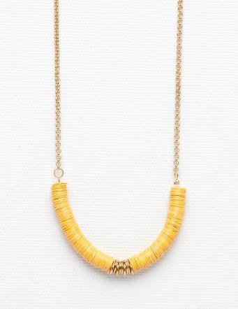 Alef Alef | אלף אלף - בגדי מעצבים | שרשרת Mush eF צהוב