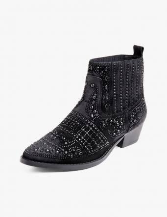 Alef Alef | אלף אלף - בגדי מעצבים | מגפוני נצנצים שחור