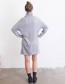 Alef Alef   אלף אלף - בגדי מעצבים   שמלת Abigail אפור
