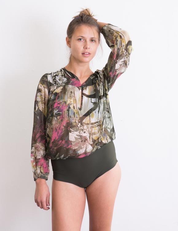 Alef Alef | אלף אלף - בגדי מעצבים | בגד גוף Aidy הדפס צבעוני