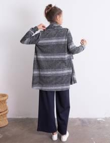 Alef Alef | אלף אלף - בגדי מעצבים | ז'קט Evie אפור פסים
