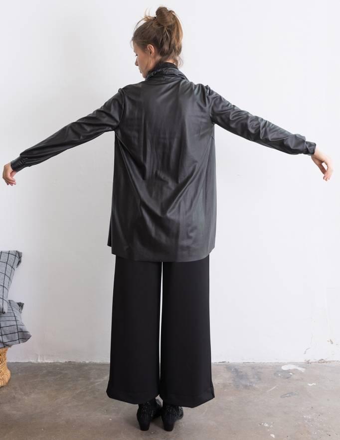 Alef Alef | אלף אלף - בגדי מעצבים | ז'קט Evie שחור מבריק