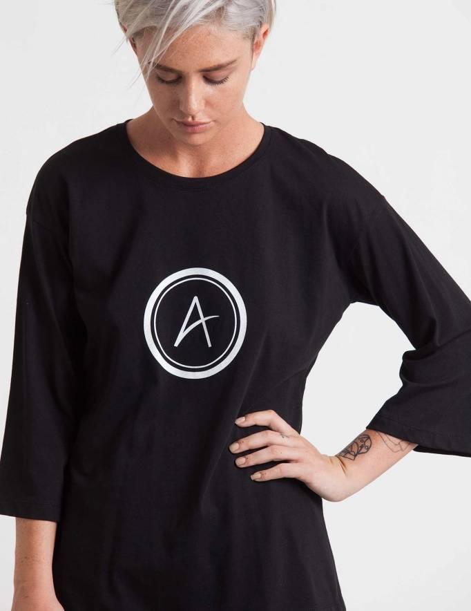 Alef Alef | אלף אלף - בגדי מעצבים | חולצת Hanna שחור דפוס