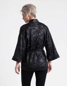 Alef Alef | אלף אלף - בגדי מעצבים | ז'קט Jessa שחור הדפס