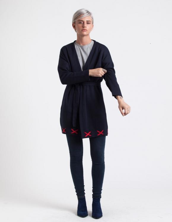 Alef Alef | אלף אלף - בגדי מעצבים | ז'קט Clementine כחול אדום