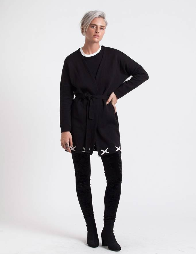 Alef Alef | אלף אלף - בגדי מעצבים | ז'קט Clementine שחור לבן