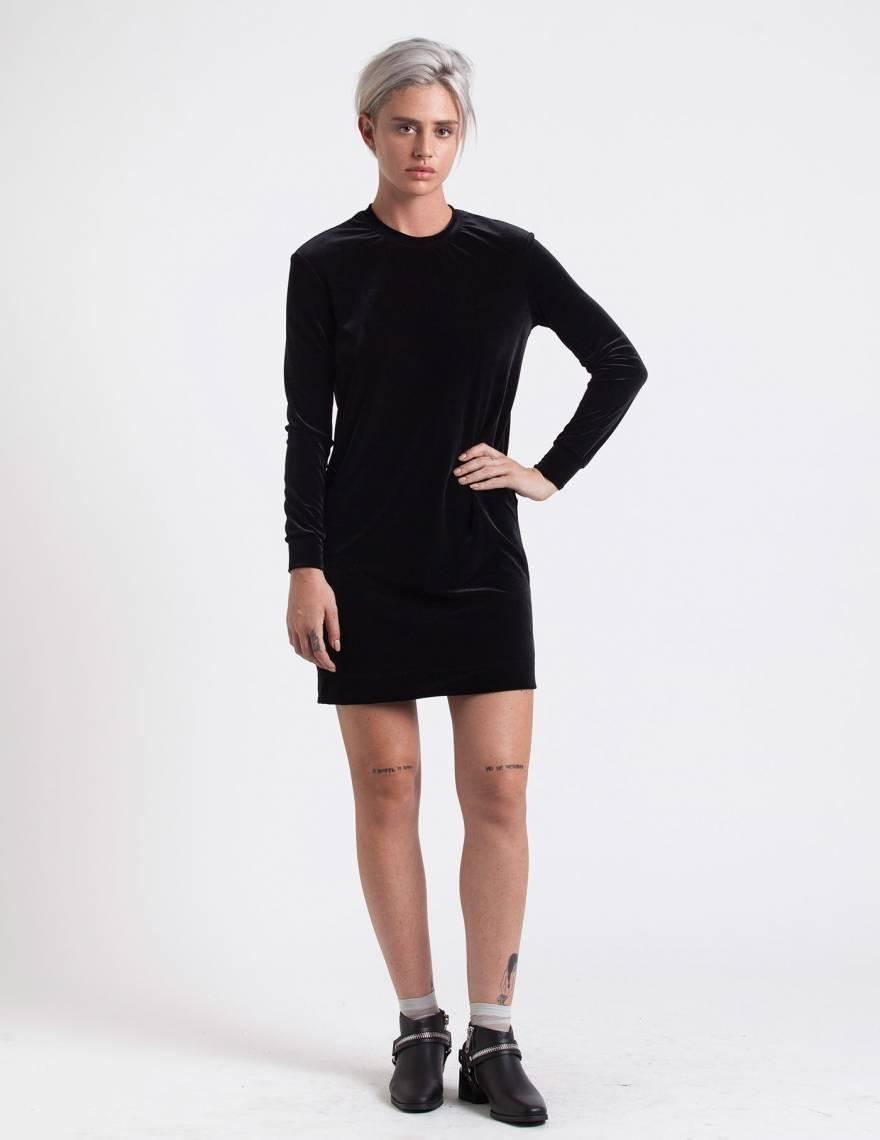 Alef Alef | אלף אלף - בגדי מעצבים | שמלת Becky קטיפה שחורה