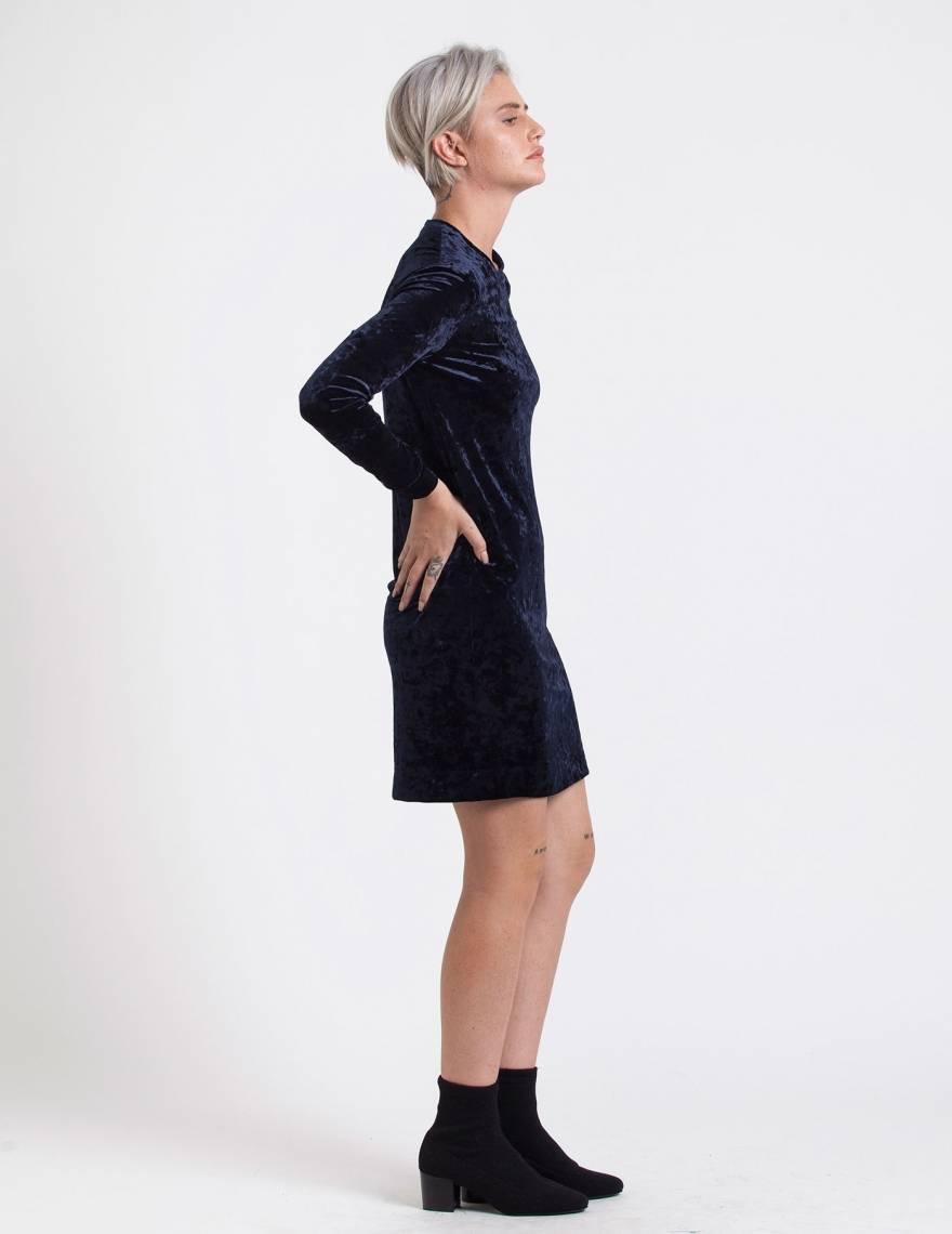 Alef Alef | אלף אלף - בגדי מעצבים | שמלת Becky קטיפה כחול
