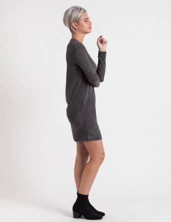 Alef Alef   אלף אלף - בגדי מעצבים   שמלת Becky אפור