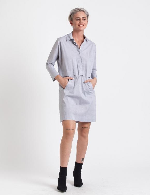 Alef Alef | אלף אלף - בגדי מעצבים | שמלת Charlie פסים