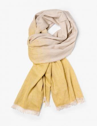 Alef Alef | אלף אלף - בגדי מעצבים | צעיף חורפי צהוב