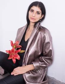 Alef Alef | אלף אלף - בגדי מעצבים | מעיל Caroline ברונזה