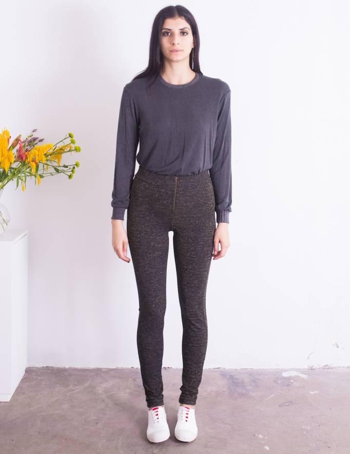 Alef Alef | אלף אלף - בגדי מעצבים | טייץ Ronch שחור זהב