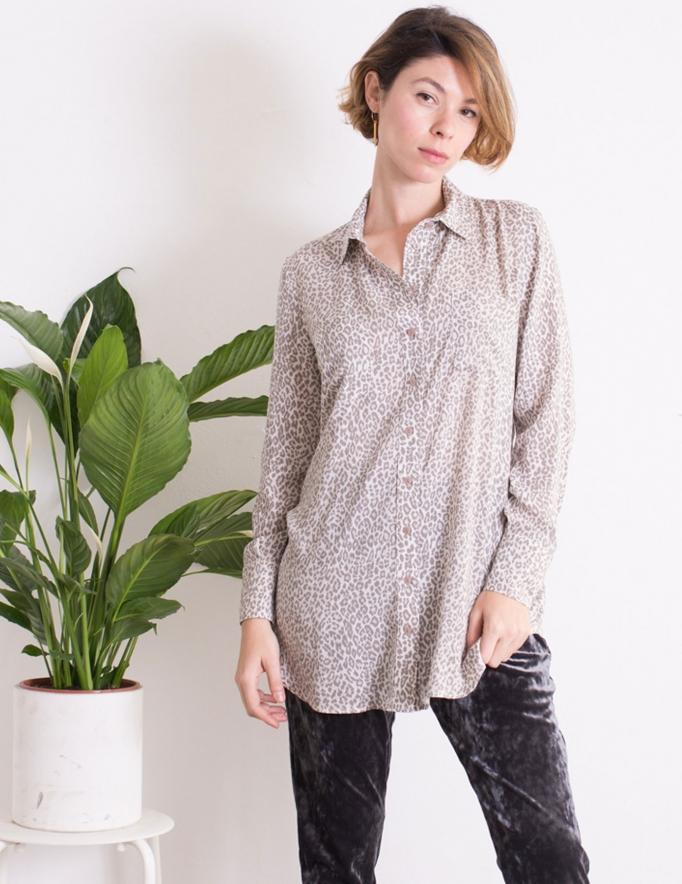 Alef Alef | אלף אלף - בגדי מעצבים | חולצת Alex חברבורות בז'
