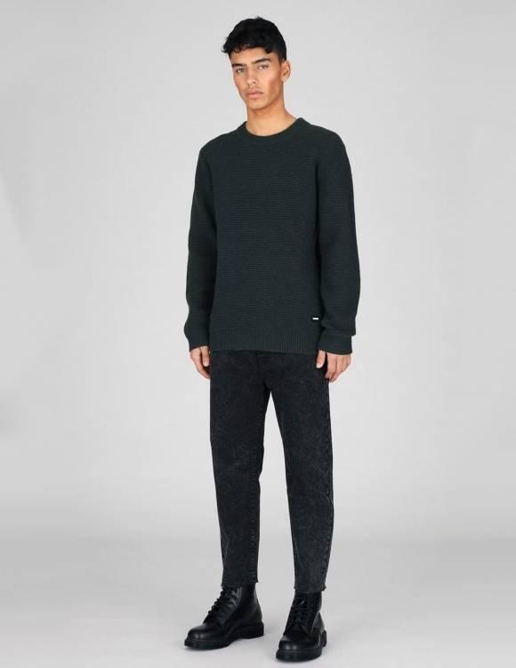 Alef Alef | אלף אלף - בגדי מעצבים | סוודר Dr. Denim Otto שחור- יוניסקס