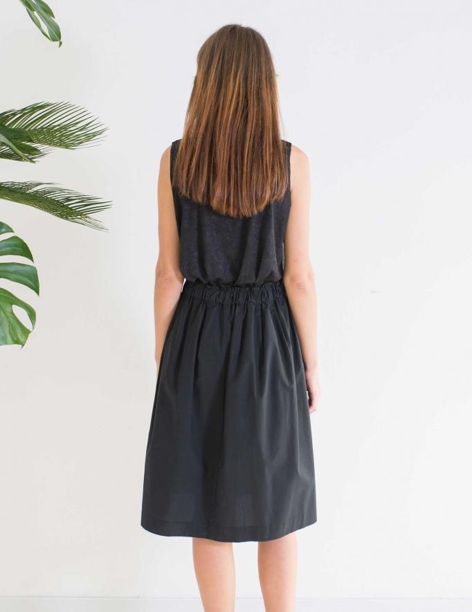 Alef Alef | אלף אלף - בגדי מעצבים | חצאית MAPLE שחור