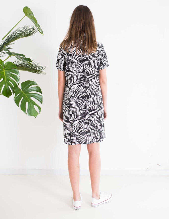 Alef Alef | אלף אלף - בגדי מעצבים | Sample | שמלת DALIA הדפס שחור לבן