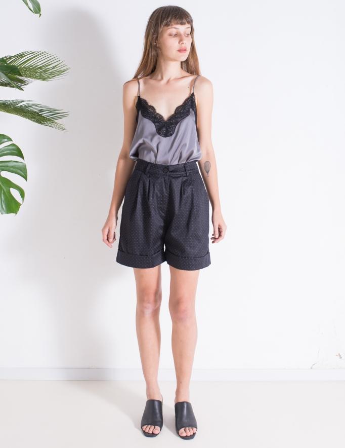 Alef Alef | אלף אלף - בגדי מעצבים | מכנסי Liliume שחור נקודות