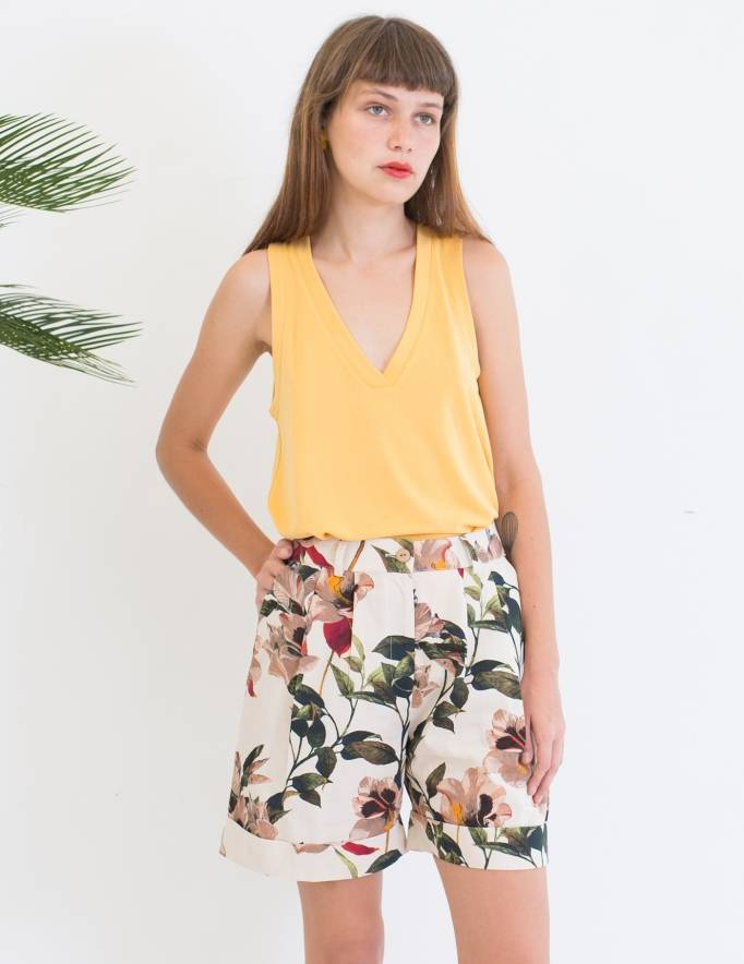 Alef Alef | אלף אלף - בגדי מעצבים | Sample| מכנסי Liliume הדפס פרחים