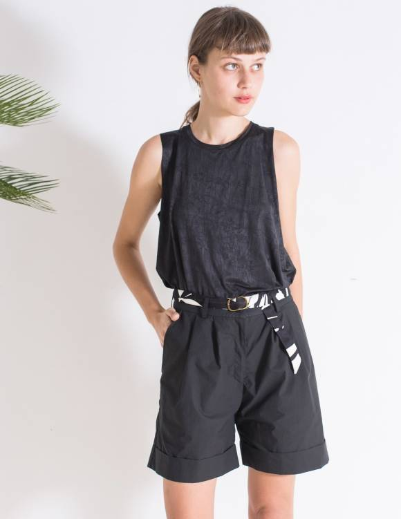Alef Alef | אלף אלף - בגדי מעצבים | מכנסי Liliume שחור