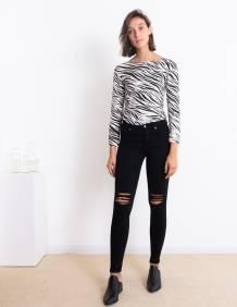 Alef Alef | אלף אלף - בגדי מעצבים | ג'ינס Dr. Denim Lexy שחור עם קרעים