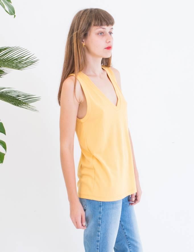 Alef Alef | אלף אלף - בגדי מעצבים | גופיית Violet צהוב