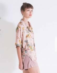 Alef Alef | אלף אלף - בגדי מעצבים | חולצת Bay ורוד הדפס פרחים