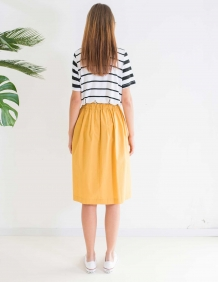 Alef Alef | אלף אלף - בגדי מעצבים | חצאית MAPLE חרדל