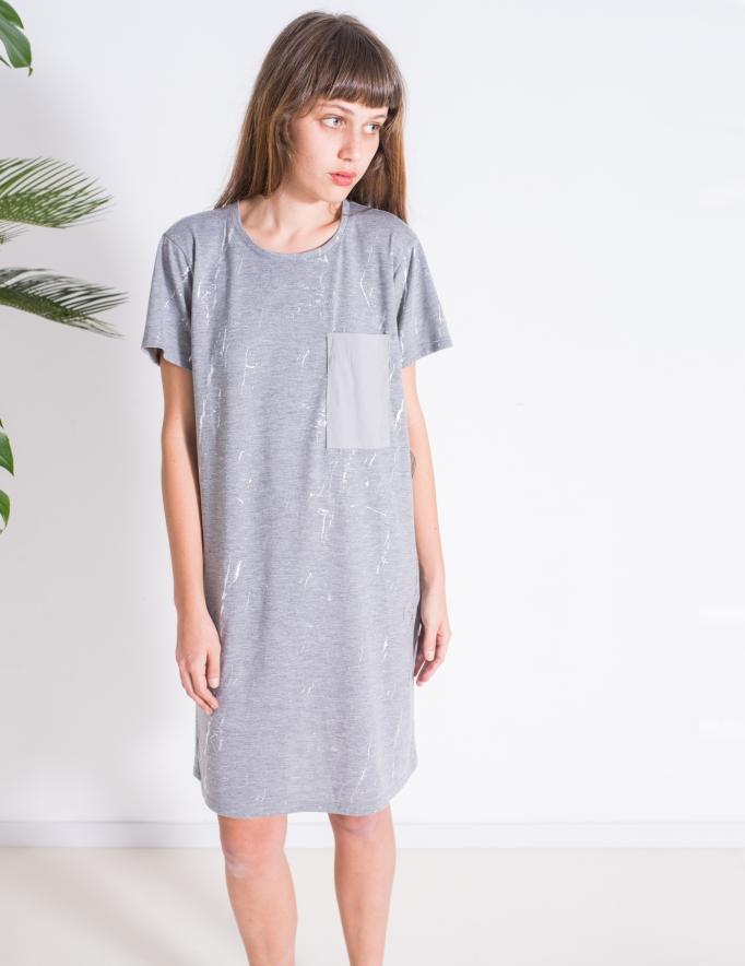 Alef Alef | אלף אלף - בגדי מעצבים | שמלת Lovebird אפור כסף